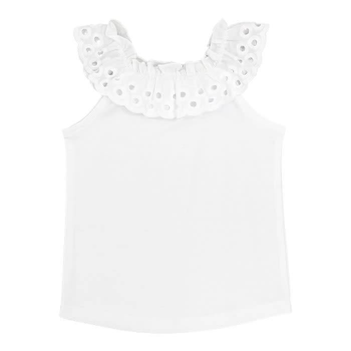 Bailey Boys Bailey Boys Eyelet Collar Tee - Big Girl