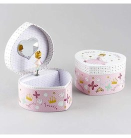 Floss & Rock Floss & Rock Heart Shaped  Princess Jewelry Box