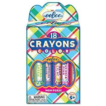 Eeboo Eeboo Pink Plaid Crayons