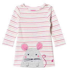 Joules Joules Baby Kay Long Sleeve Dress w/ Applique