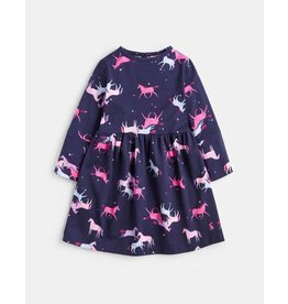 Joules Joules Younger Alina Jersey Panelled Hotch Potch Dress