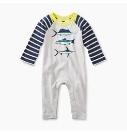 Tea Collection Tea Collection Deep Sea Raglan Graphic Romper