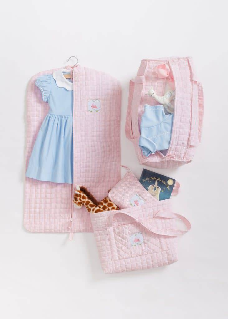 Little English Little English Bunny Quilted Luggage 4pc Set