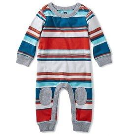 Tea Collection Tea Collection Striped Knee Patch Romper