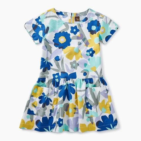 Tea Collection Tea Collection Marina Floral Woven Pocket Dress