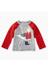 Tea Collection Tea Collection Seagull Raglan Graphic Tee
