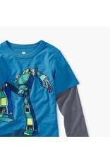 Tea Collection Tea Collection Robot Layered Graphic Tee