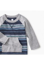 Tea Collection Tea Collection Striped Pocket Romper