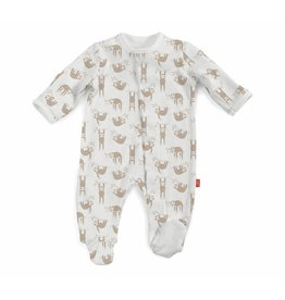 Magnificent Baby Magnetic Me Organic Cotton Silly Sloth Footie