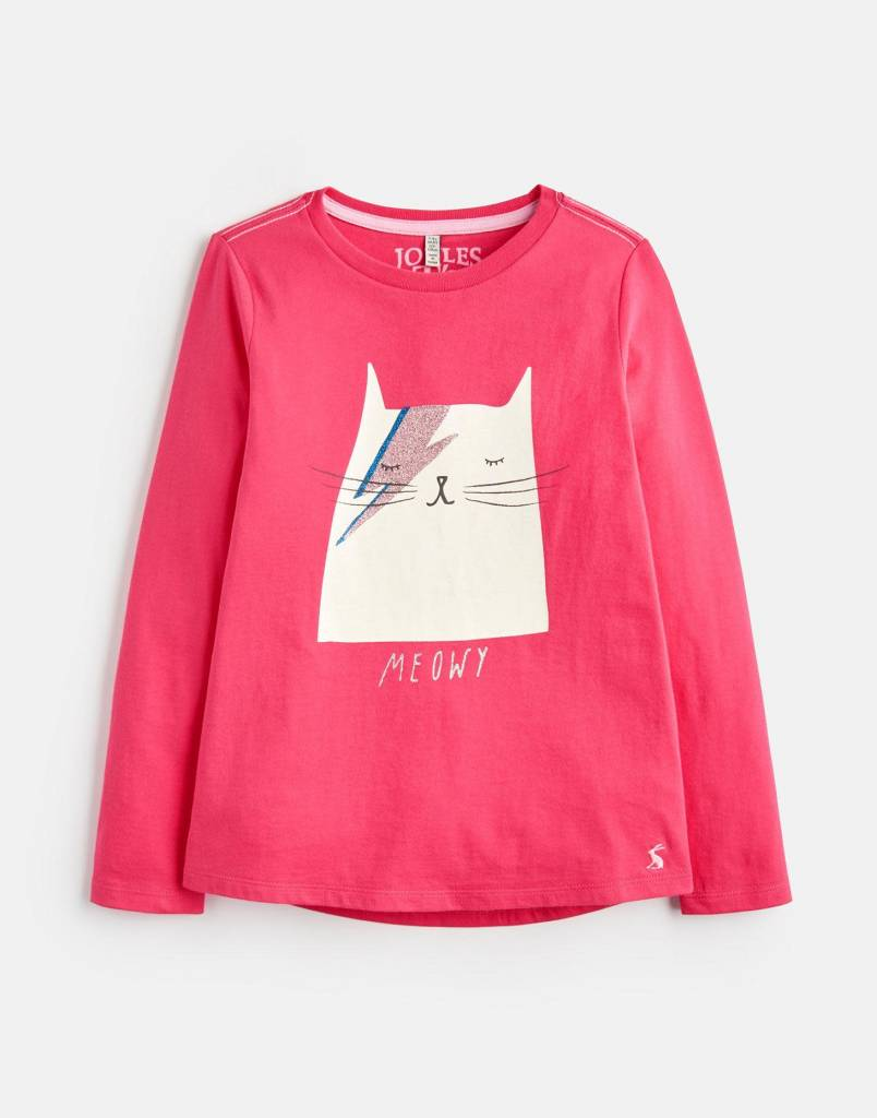 Joules Joules Bessie Cat Graphic T-Shirt