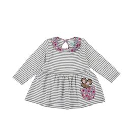 Lilly + Sid Lilly + Sid Vintage Collar Stripe Dress