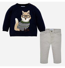 Mayoral Mayoral Pup Sweater with Trouser Set
