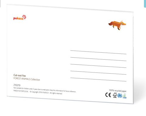 PUKACA Owl Paper Toy postcard