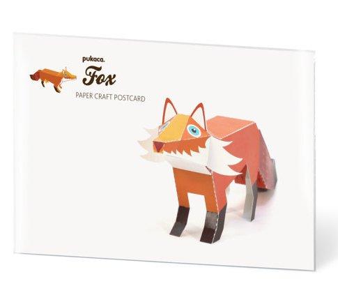 PUKACA Boar Paper Toy postcard
