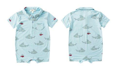 Angel Dear Shark & Friends Polo Short Onesie