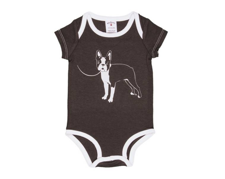 Baby Blastoff Boston Terrier Onesie