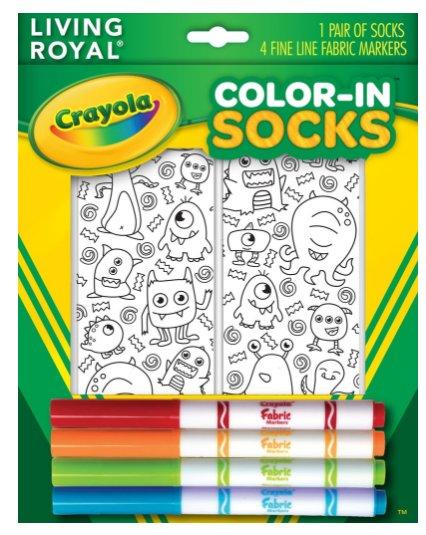Living Royal Monster Party Color-In Socks