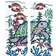 Living Royal Under the Sea Color-In sock
