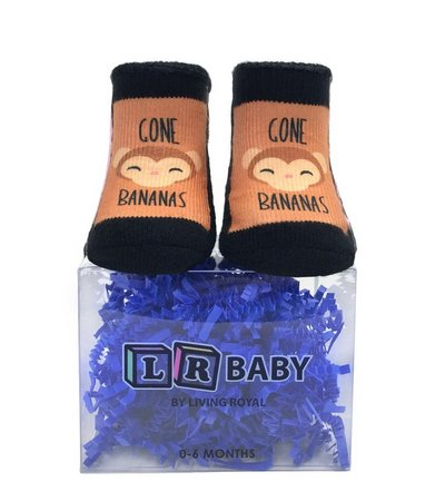 Living Royal Gone Bananas Baby Socks