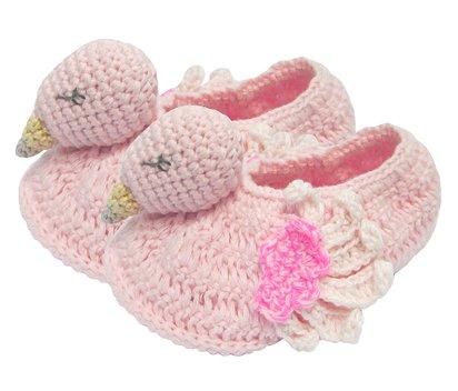 Albetta Flamingo Crochet Booties