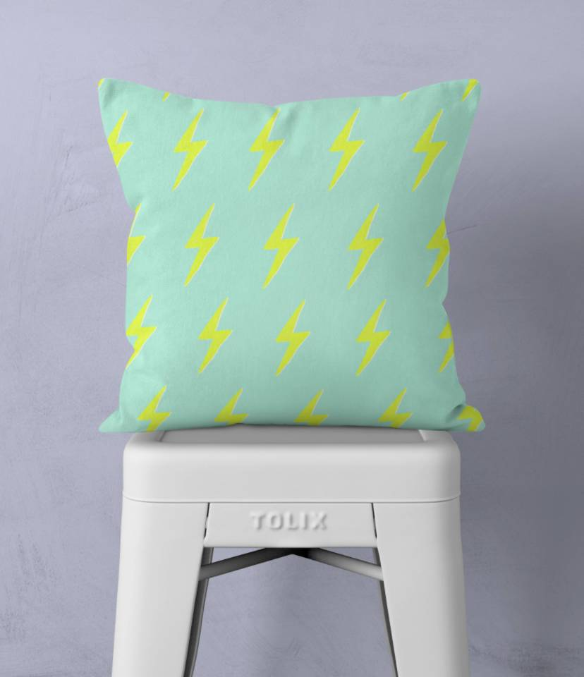 Frankie Print Co. Small Lightning Pillow