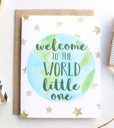 Towne9 Welcome to the World card