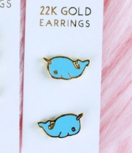 Unicorn Crafts Narwhal Earrings