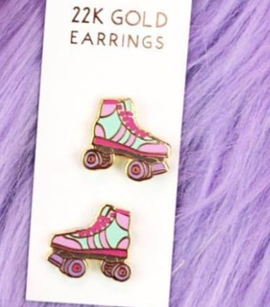 Unicorn Crafts Roller Skates Earrings