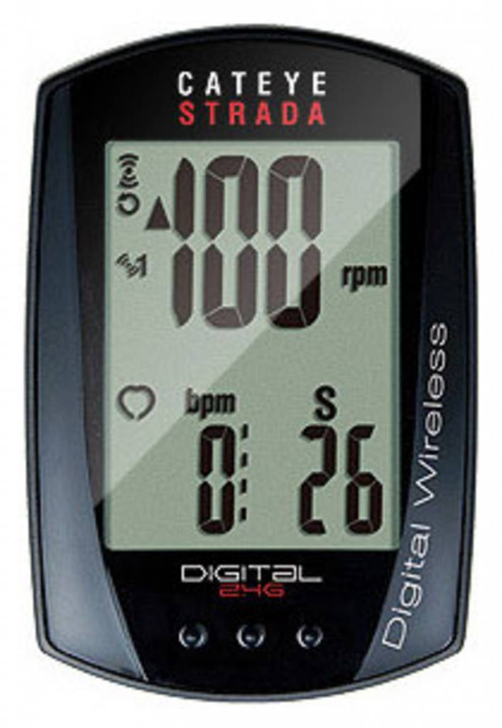 Cateye CatEye Strada Digital Double With Speed and Cadence Wireless Cycling Computer RD410DW: Black