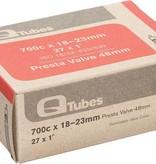 Q-Tubes Q-Tubes 700c x 18-23mm 48mm Presta Valve Tube 101g