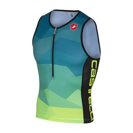 Castelli Castelli Core 2 Men's Tri Top Blue/Yellow Fluo