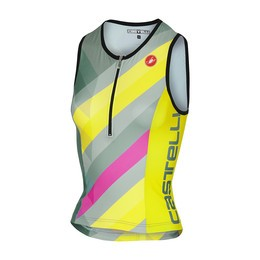 Castelli Castelli Core 2 Women's Tri Singlet Multicolor Forest Gray