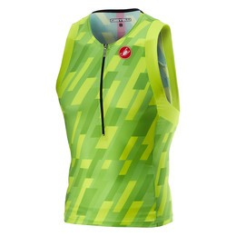 Castelli Castelli Men's Free Tri Top Pro Green