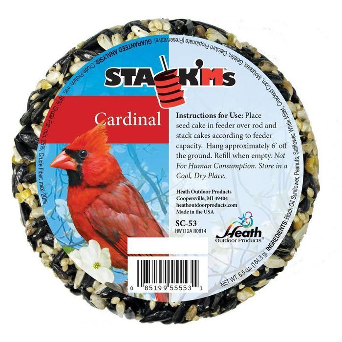 Stack'Ms Cardinal Seed Cake 6.4 oz