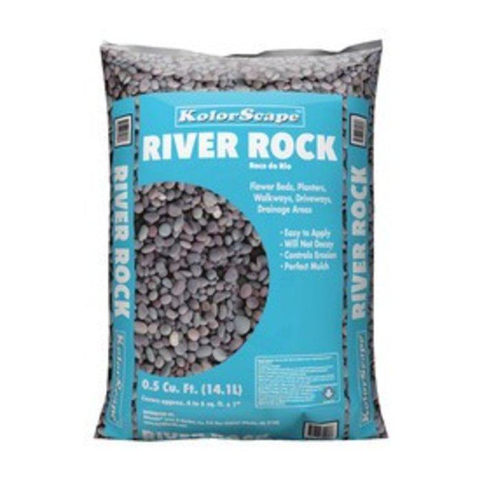 Bagged River Rock .5 CF