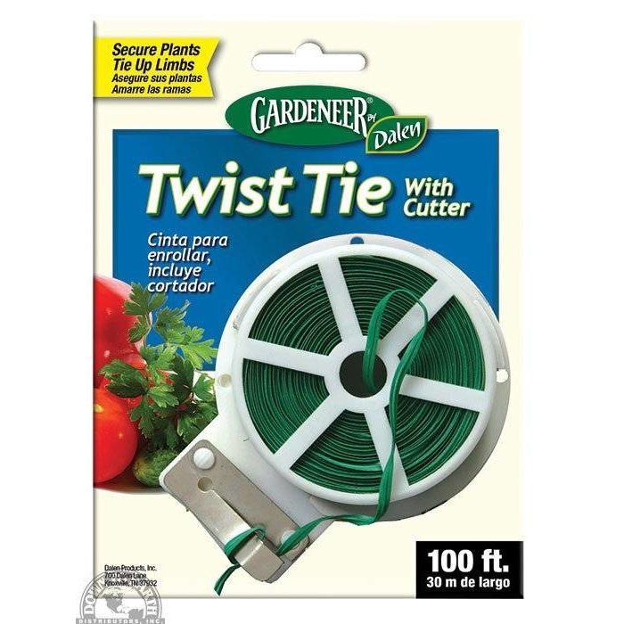 Gardeneer Twist Tie with Cutter 100'