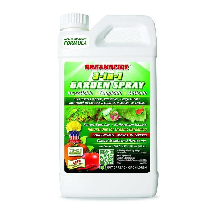Organicide 3-1 Garden Spray 32 oz Concentrate