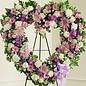 Lavender Garden Heart Spray