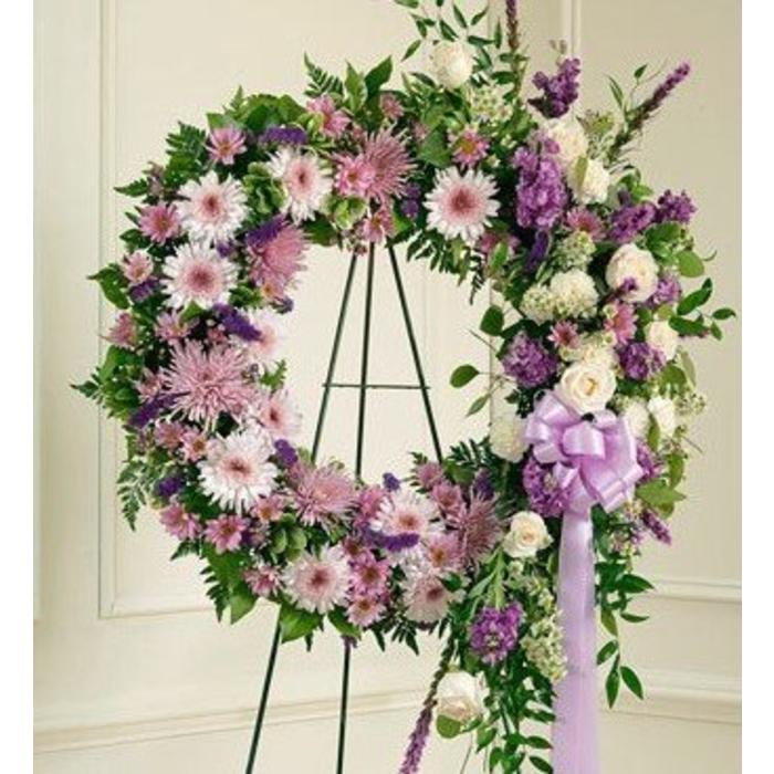 Lavender Garden Wreath Spray