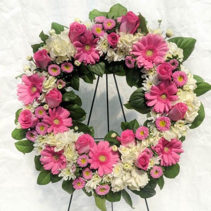 Pink Divine Wreath Spray
