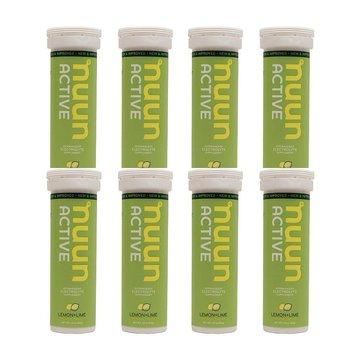 Nuun Hydration Lemon Lime Drink Case-  8 Tubes