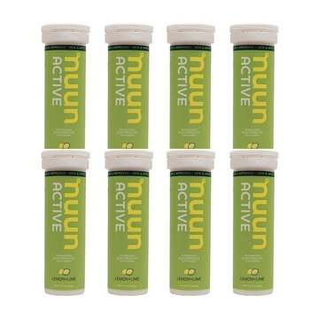 Nuun Hydration Lemon Lime Drink Tablet Case-8 Tubes
