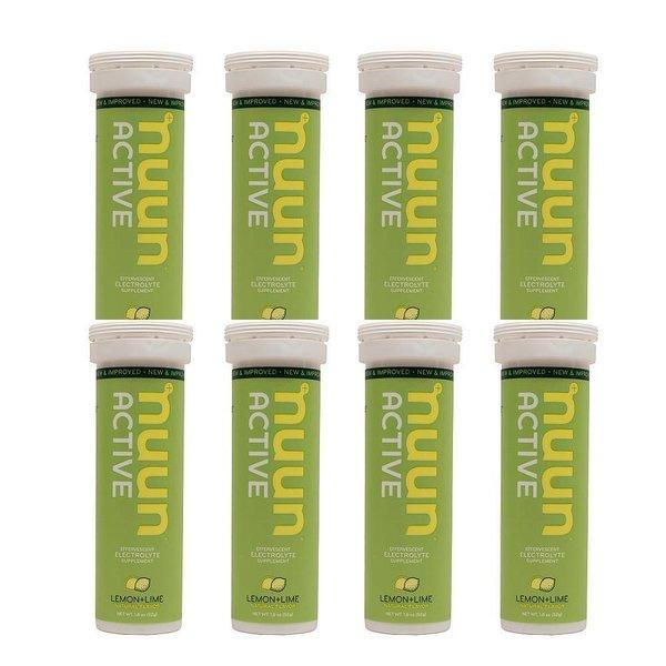 Nuun Hydration Lemon Lime Drink Tablet Case-8 Tubes