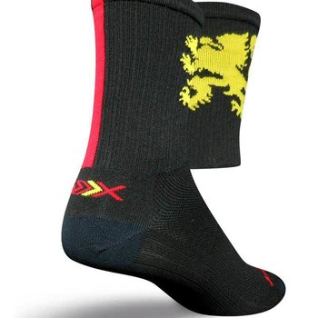 Sock Guy Mens SGX Lion Gold Cycling Socks