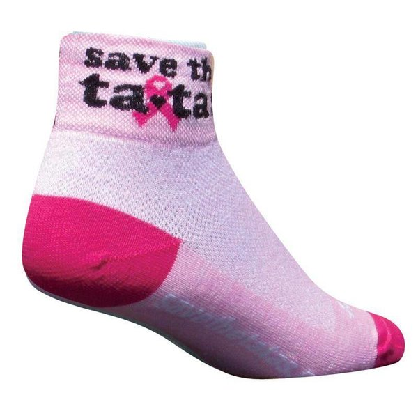 Sock Guy Womens Save The Tatas Classic Cycling Socks