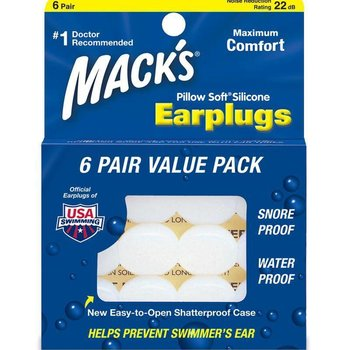 Macks Pillowsoft Swim Ear Plugs 6 Pair