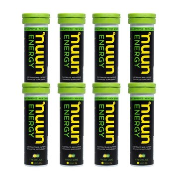 Nuun Hydration Fresh Lime Energy Drink  Case 8 Tubes