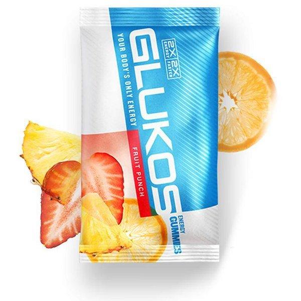 Glukos Fruit Punch Gummy Case- 12Ct