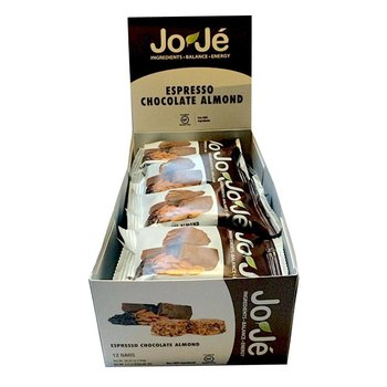Joje Espresso Chocolate Almond Bars - 12Ct