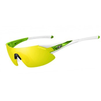 Tifosi Podium XC White/Green Sunglasse - Clarion Ylw Lens